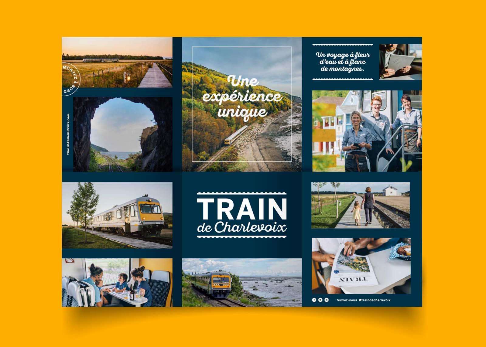 Train de Charlevoix - depliant