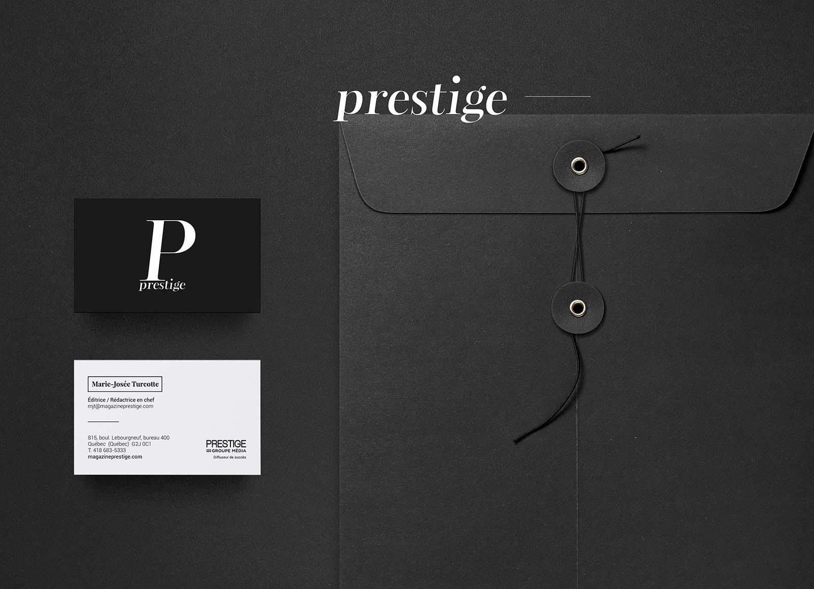 Prestige Magazine - carte