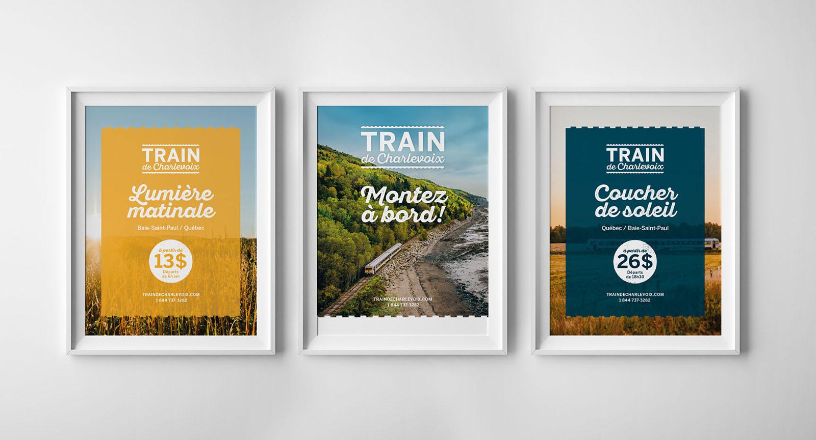 Train de Charlevoix - affiches