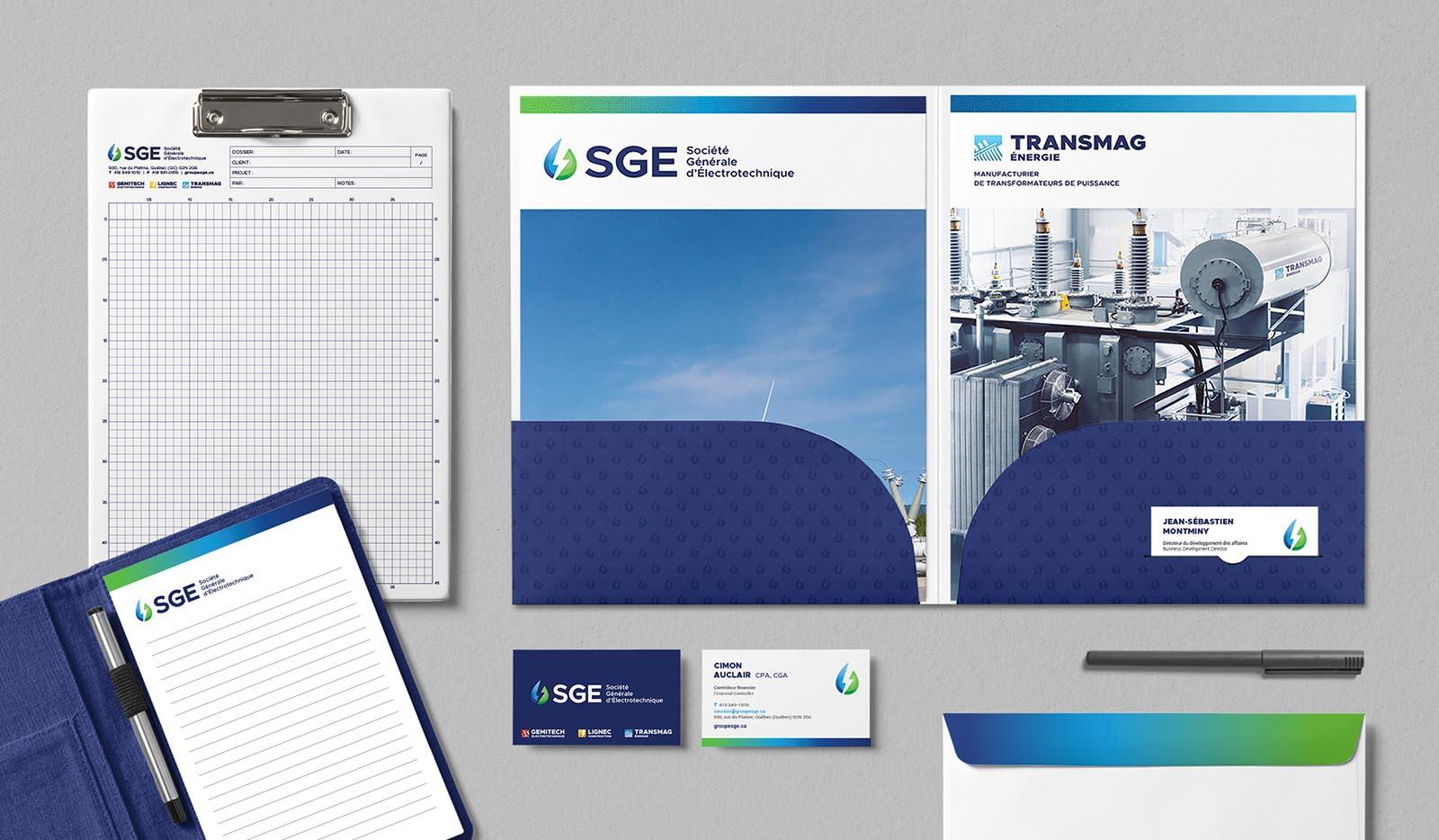 SGE Societe Generale Electrotechnique - Papeterie